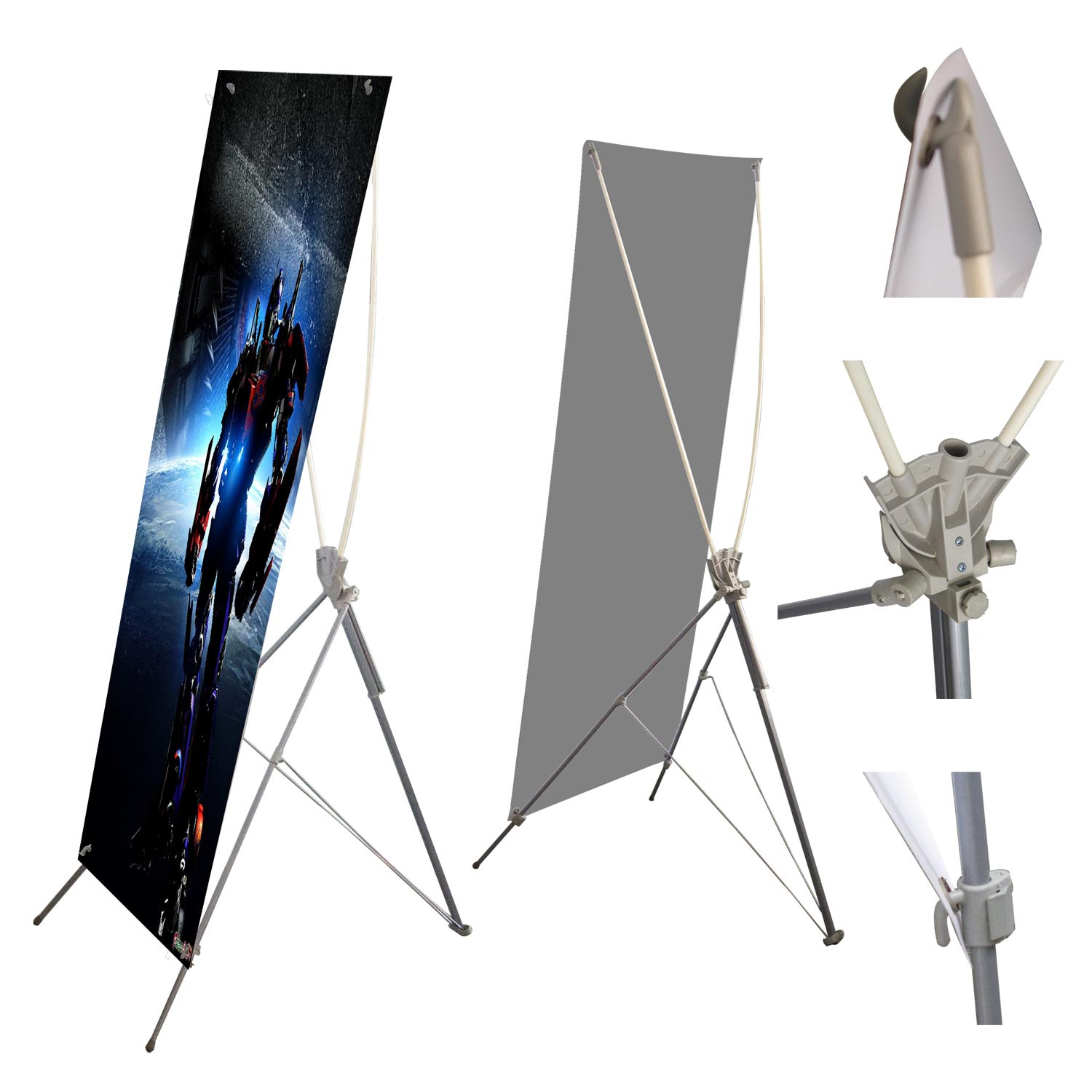 Portable Exhibition Display : X stand banner new york cheap vinyl banners