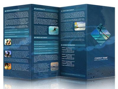 8.5 x 14 Cardstock Brochure