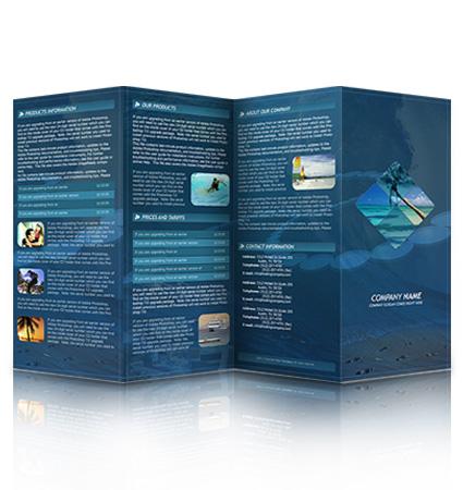 5 panel brochure template - cheap brochures cardstock brochures