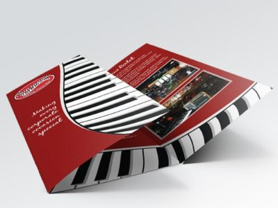 8.5 x 14 AQ Gloss Text Brochure
