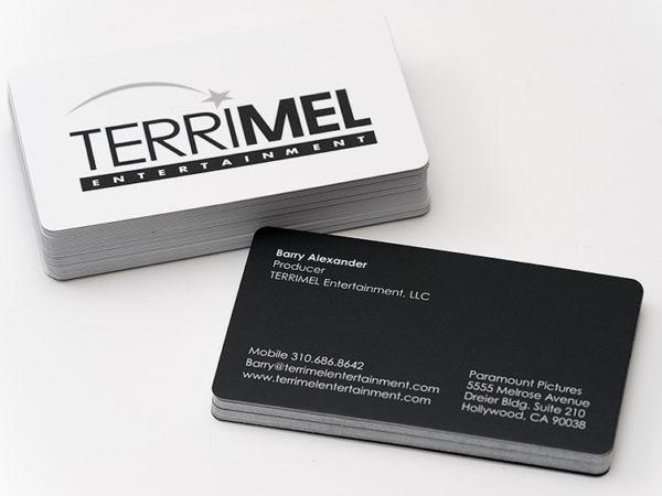 business cards silk stock