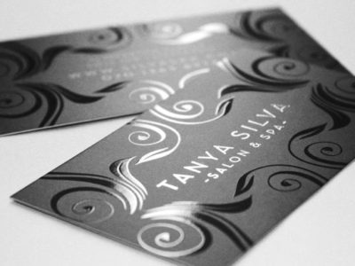 Silk with Spot UV Business Card