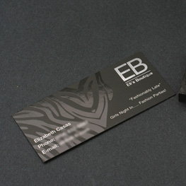 "Slim Business Card with Spot UV (1.5""x 3.5"")"