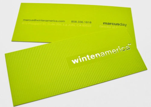 "Slim Silk Foil Stamped Business Cards (1.5"" x 3.5"")"