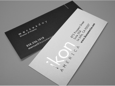 "Slim Silk Foil Stamped Business Card (1.75"" x 3.5"")"