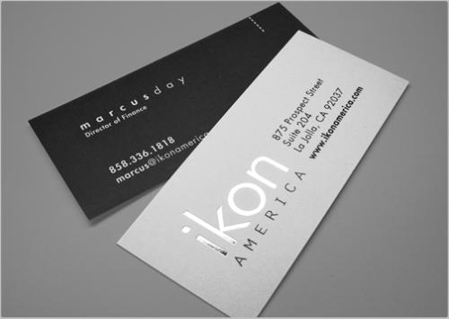Slim Foil Stamped Business Cards