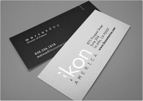"Slim Silk Foil Stamped Business Card (1.75"" x 3.5"")"