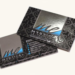 Inline Foil with Spot UV Business Cards