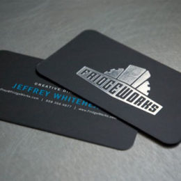 Stamped Foil Business Card with Rouded Corners