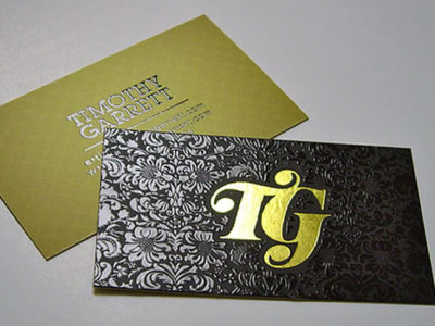Stamped Foil Business Card with Spot UV Gloss