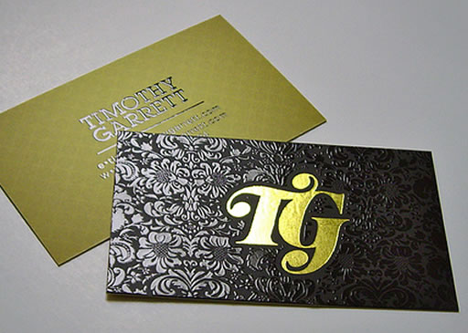 Foil stamp business cards with spot uv gloss stamped foil business card with spot uv gloss reheart Image collections