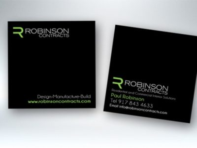 Square Silk Business Cards