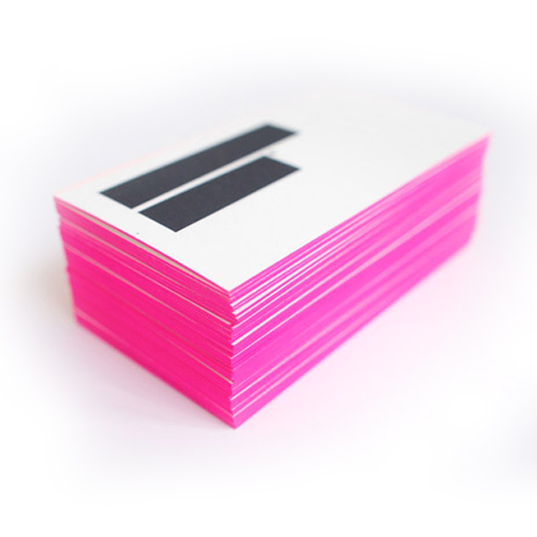 Thick Colored Edge Business Cards Bracha Printing