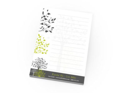 Custom 4.25 x 5.5 Notepad Printing